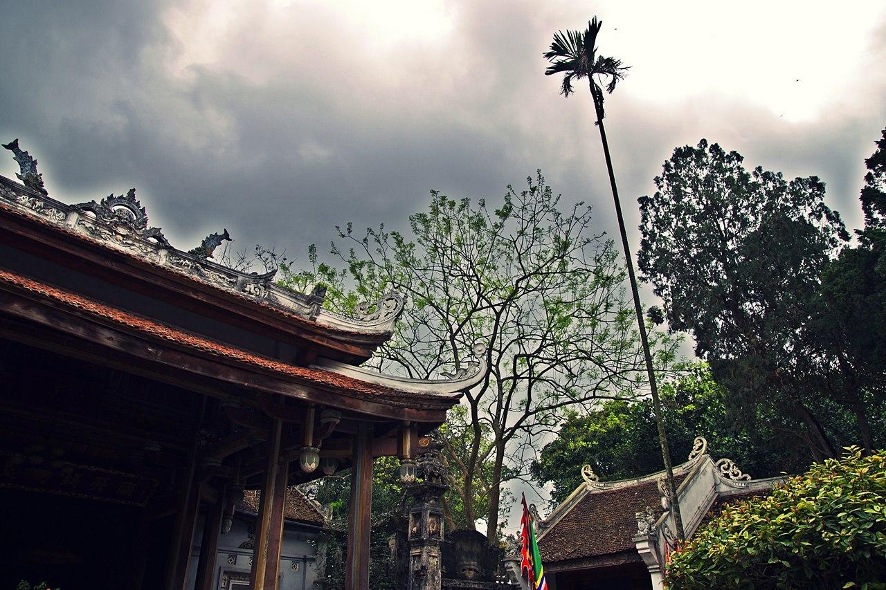 Pagoda in a rainy day
