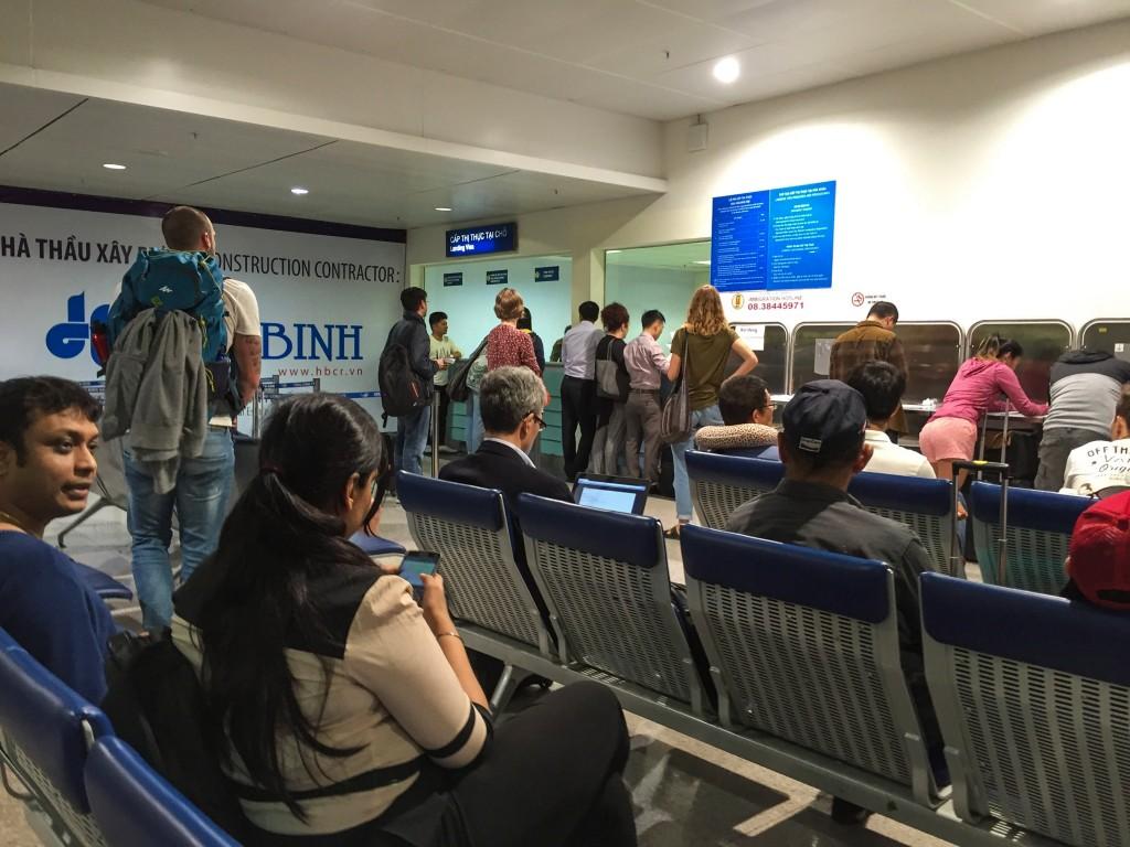 Vietnam Landing Visa counter