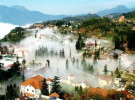Sapa is covering by the fog